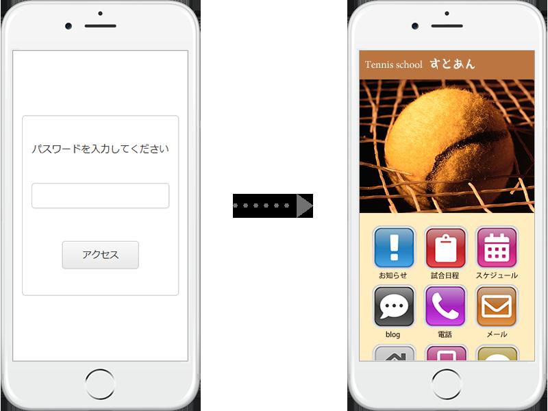 パスワードによるアクセス制限で、閲覧者を限定して公開することができます。